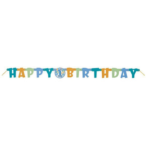 First Birthday Blue Jointed Banner