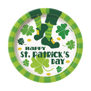 "8 CT 9"" St. Patrick's Jig  Plate"