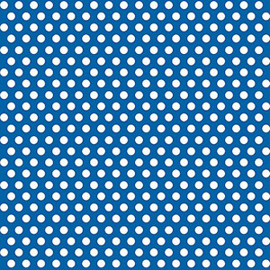 "30"" x 5 Ft Royal Blue Dot Giftwrap"