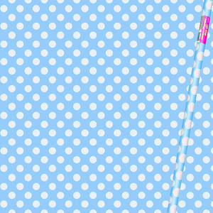 "30"" x 5 Ft Powder Blue Dot Giftwrap"