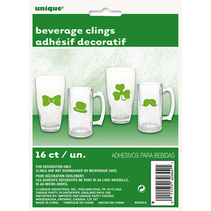 16 CT St. Patrick's Beverage Clings