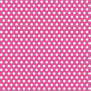 "30"" x 5 Ft Hot Pink Dot Giftwrap"