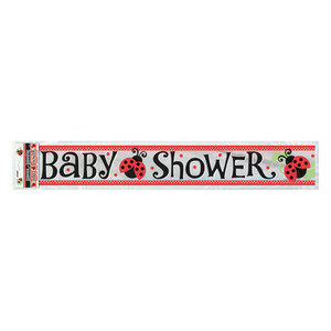 12 Ft Lively Ladybug Baby Shower Foil Banner