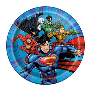 "8 CT 7"" Justice League Plates"