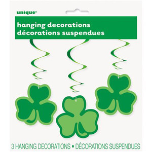 "3 CT 26"" Clover Hanging Swirls"