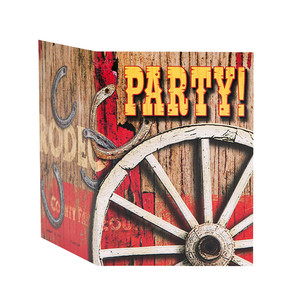 8 CT Rodeo Western Invites