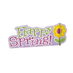 Happy Spring Deluxe 3D Centerpiece