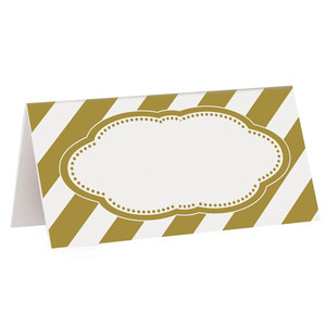 16 CT Gold Place Cards