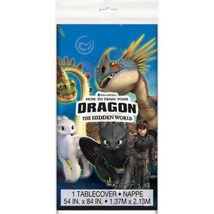 "54"" x 84"" How to Train Your Dragon 3 Plastic Tablecover"