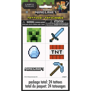 24 CT Minecraft Tattoos