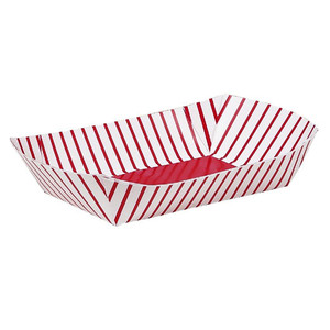 4 CT Paper Snack Trays