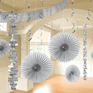 Paper and Foil Silver Decorating Kit