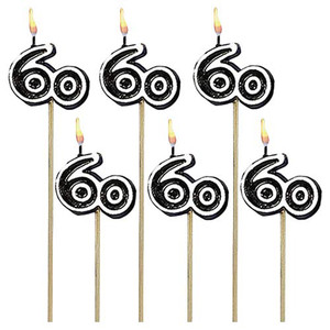Birthday Cake Candle Sticks Numeral #60