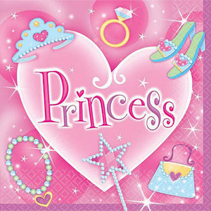 16 Princess Lunch Napkins