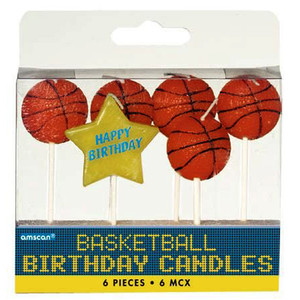 "Basketball Birthday 3"" Pick Candles"