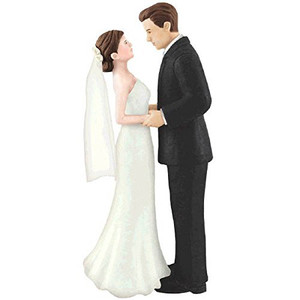 Plastic Cake Topper Bride & Groom