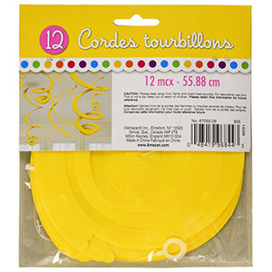 Decoration Swirl Plastic Yellow Sunshine
