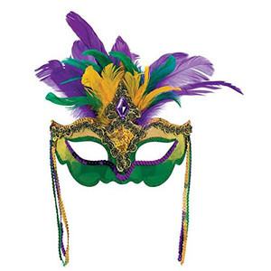 Mask Mardi Gras Venetian Feather