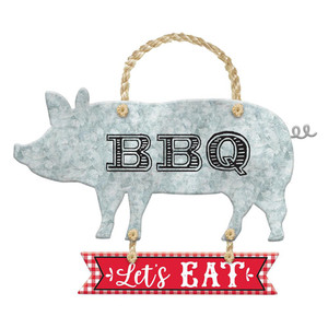 BBQ Hanging Metal Sign