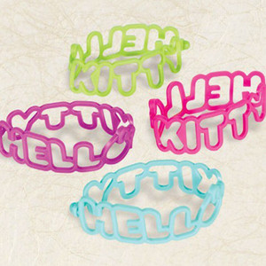 Rubber Bracelets Diecut Hello Kitty Rainbow