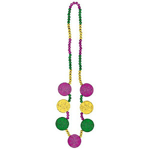 Coin Medallions Necklace Mardi Gras