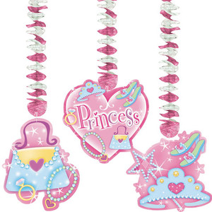 3 Princess Dangling Cutouts