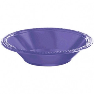20 Ct 12 Oz New Purple Bowl