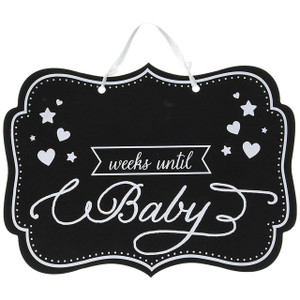 Chalkboard Sign Weeks Until Baby