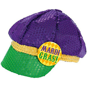 Floppy Sequin Hat Mardi Gras