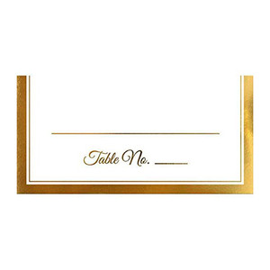 Place Card Gold Trim