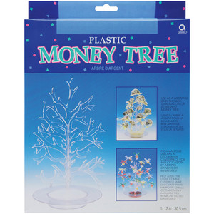 "12"" Plastic Money Tree Clear"