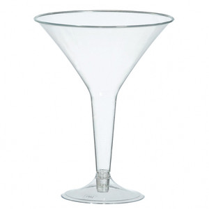 Big Party Pack Plastic Martini Glass - Clear