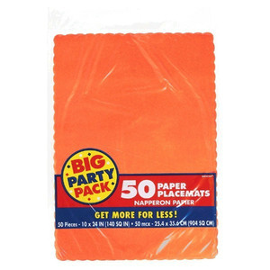 50 Ct Placemats - Orange Peel Big Party Pack