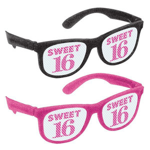 Glitter Glasses Sweet Sixteen