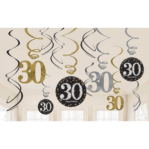 12 CT Swirls Sparkling Celebration 30