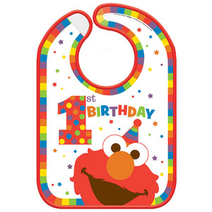 Elmo Turns One Vinyl Bib