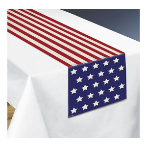 Fabric Patriotic Table Runner
