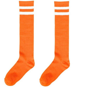 Orange Stripes Knee Socks