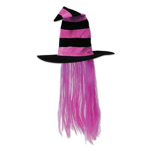 Witch Hat w/Hot Pink Hair