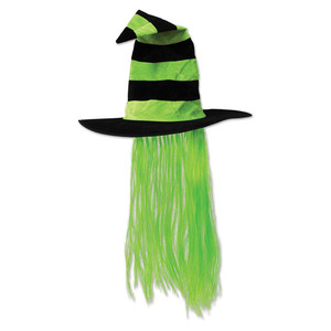 Witch Hat w/Lime Green Hair