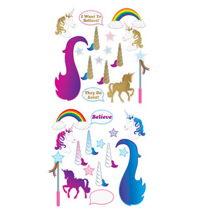 Unicorn Glittered Photo Fun Signs