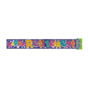 12 Ft Happy Retirement Foil Banner