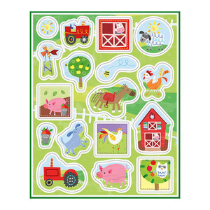 4 Ct Farm Party Sticker Sheets