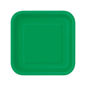 "8 Ct 9"" Emerald Green Square Plates"