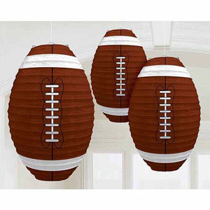 Football Shaped Paper Lanterns