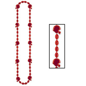 Football Beads Necklace (Red) Party Accessory