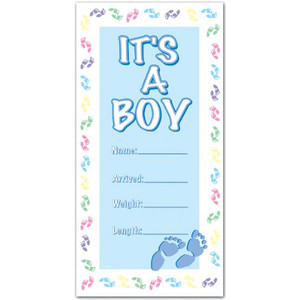 It's A Boy Door Cover Party Accessory