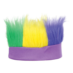 Green, Gold, Purple Hairy Headband