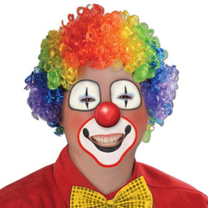 Rainbow Clown Wig 1 Count