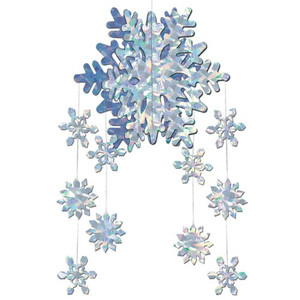 3-D Snowflake Mobile Party Accessory